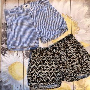 2 pairs girls old Navy shorts